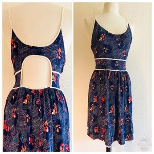 Navy Print Urban Outfitters Summer Dress L